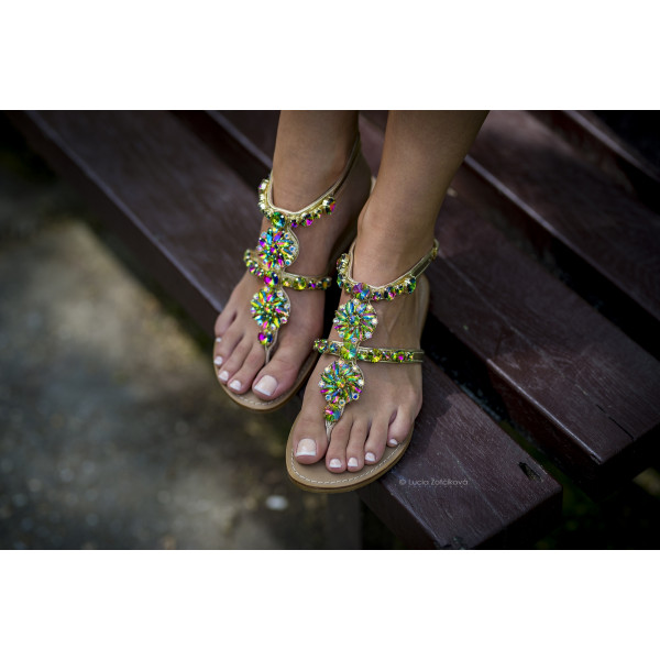 Milano Crystals Sandals Rainbow-134242-20