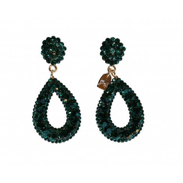 Giuliett Dona Czech Crystal Emerald Green-193814-31