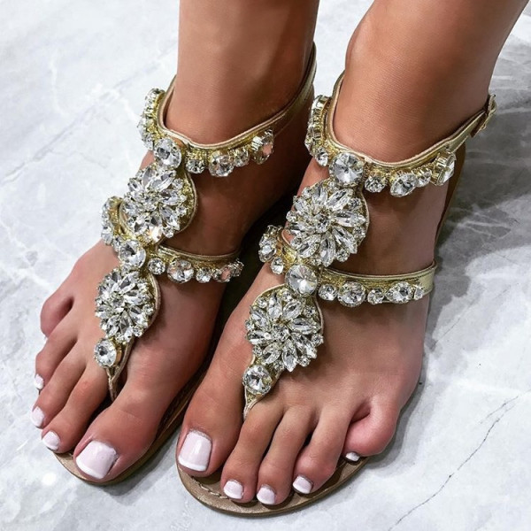 Milano Crystals Sandals Silver-134235-31